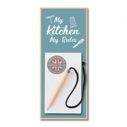 My Kitchen My Rules Magnetic Notepad